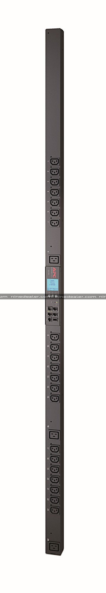 Rack PDU 2G, Metered by Outlet with Switching, ZeroU, 16A, 230V, (21) C13 & (3) C19