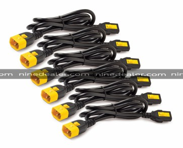 Power Cord Kit (6 ea), Locking, C13 to C14 (90 Degree), 1.2m