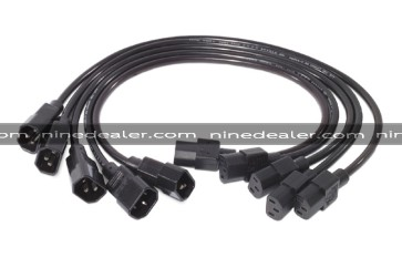 Power Cord Kit (5 ea), C13 to C14, 0.6m