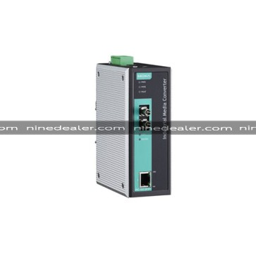 IMC-101 Industrial media converter, MM, ST, -40 to 75°C