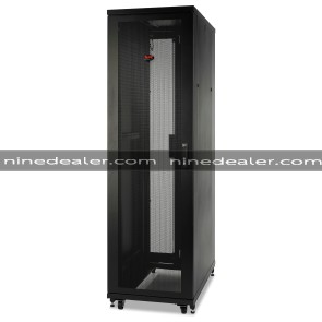NetShelter SV 48U 600mm Wide x 1200mm Deep Enclosure with Sides Black