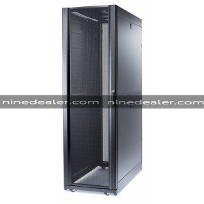 NetShelter SX 45U 600mm Wide x 1200mm Deep Enclosure with Sides Black